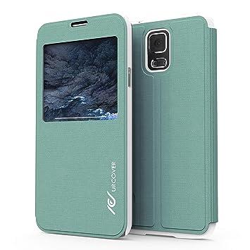 Urcover Funda Galaxy S5, Carcasa Libro S-View, Cierre magnetico, Funcion Soporte, Anti-arañazos, Billetera Flip Cover Protector Samsung Galaxy S5 - ...