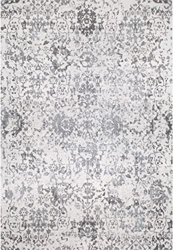 nuLOOM Rosemary Vintage Damask Area Rug, 8 x 10 , Grey