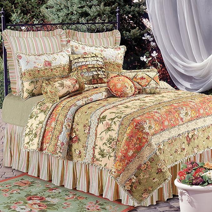 C/&F Home 89452.6080 Natural Shells Bed Skirt Queen Blue Queen Bed Skirt