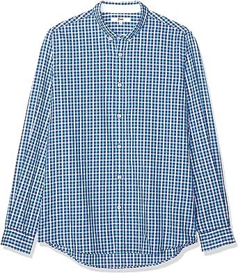 find. Camisa de Cuadros para Hombre, Azul (Blue), Large: Amazon.es ...