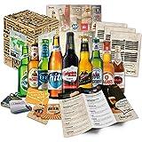"""""""BIERE DER WELT"""" Geschenkidee für Männer INKL. Bierdeckel + Geschenkkarton + Bier-Info. Biergeschenk für Männer oder als ausgefallene Geschenke für den Freund. Die perfekte Geschenkidee für Männer (9x0,33l)"""