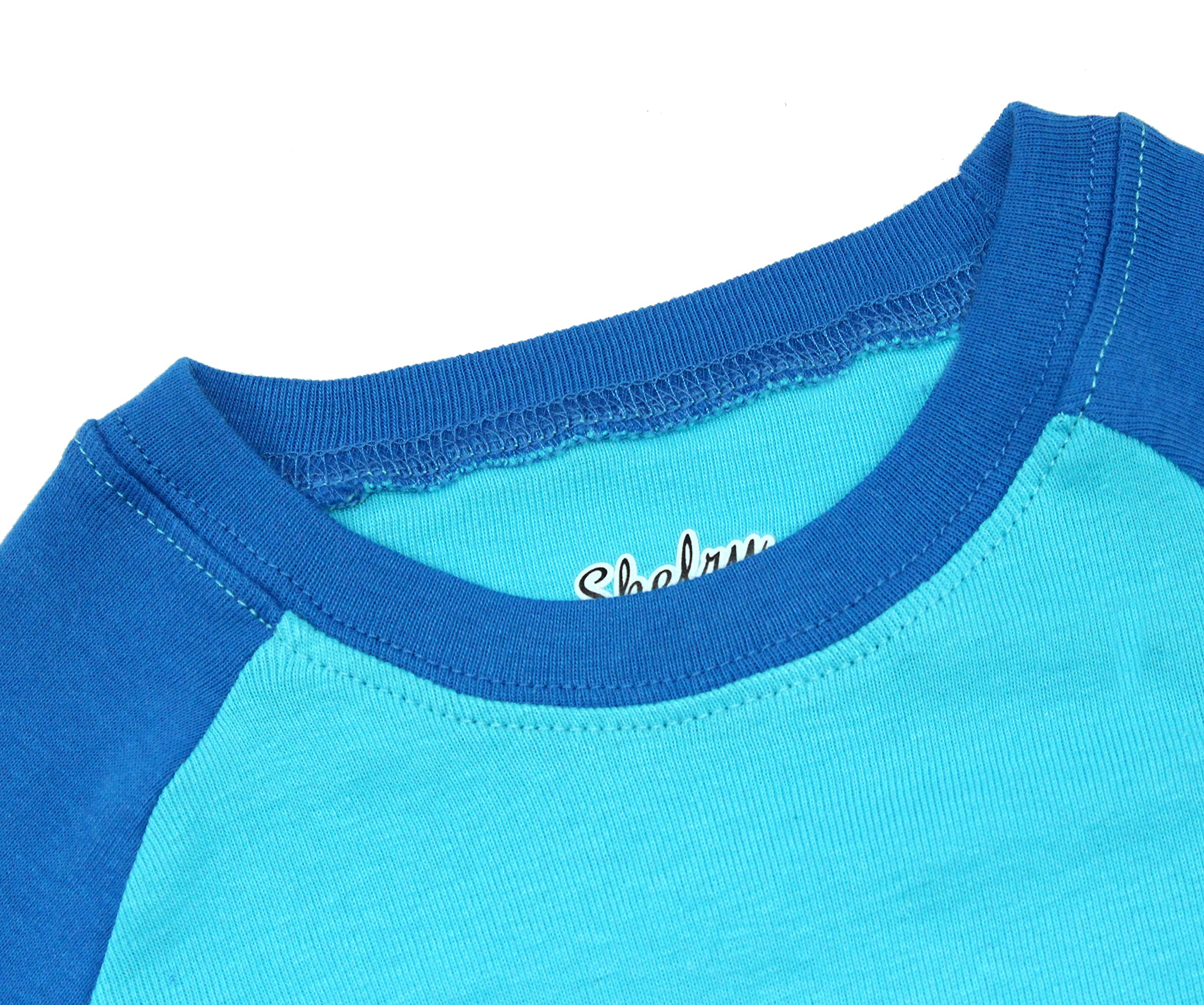 Boys Pajamas Boys Dinosaur Little Kid Shorts Set 100% Cotton Clothes Short Sleeves Sleepwear 8Y by shelry (Image #6)