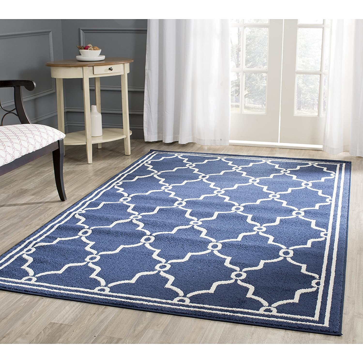 Amazon Safavieh Amherst Collection AMTP Navy and Beige