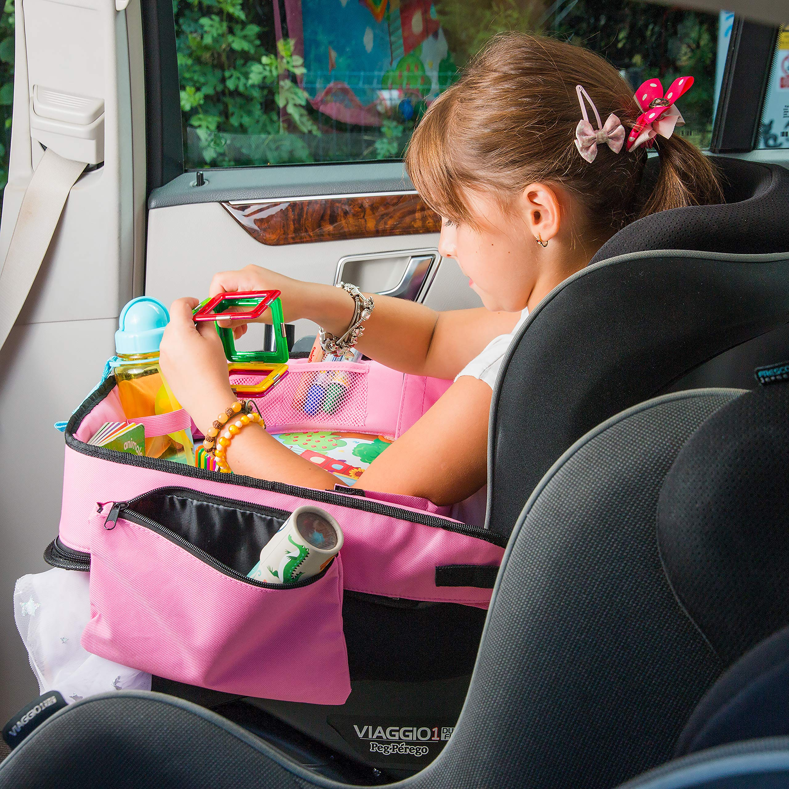 Pink Toddler Car Seat Travel Tray