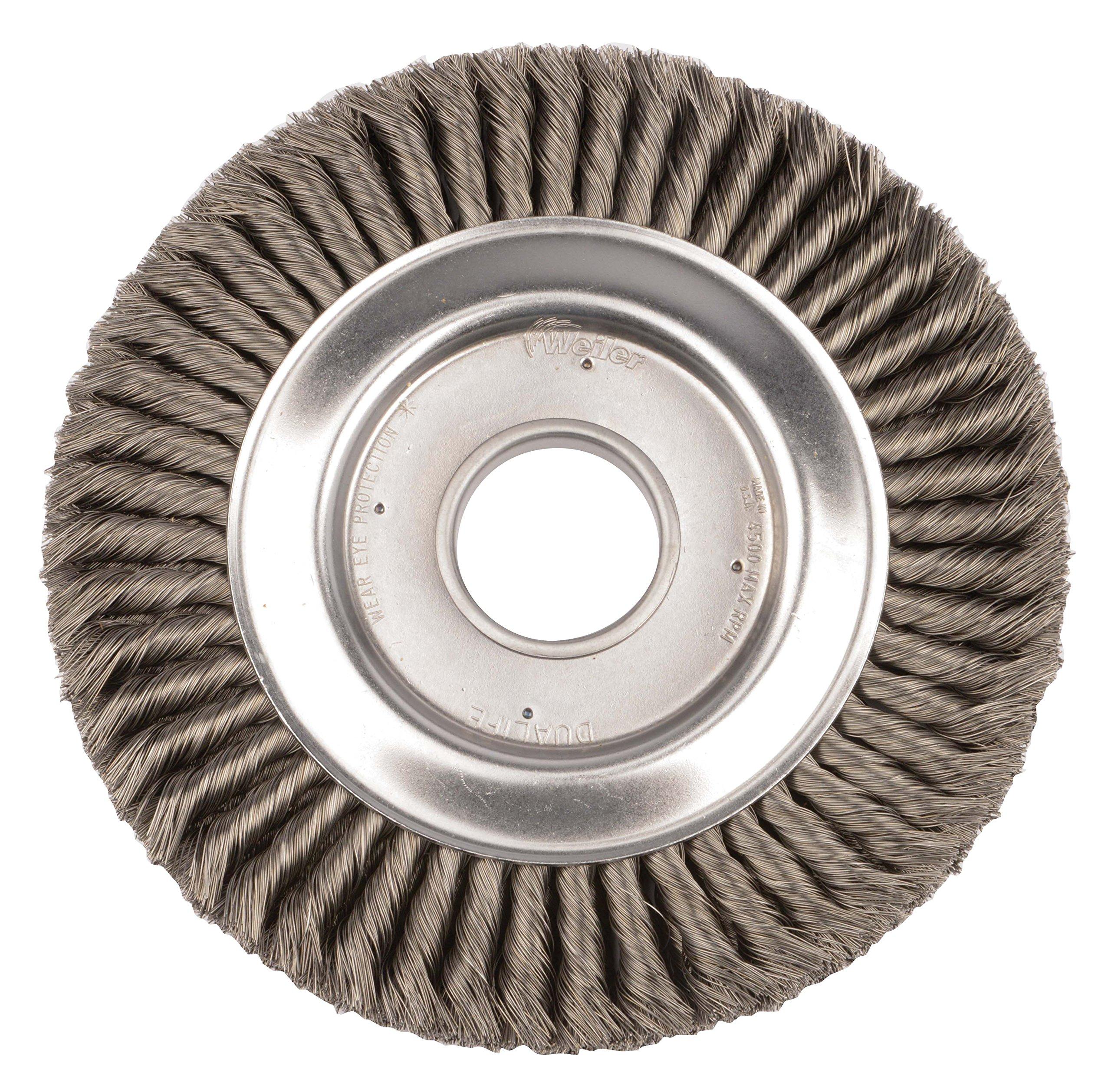Weiler 9480 Standard Twist Knot Wire Wheel, 10'', 0.16'' Steel Fill, 2'' Arbor Hole by Weiler (Image #1)