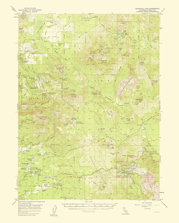 Amazon.com: Topographical Map - Manzanita Lake California Quad ...