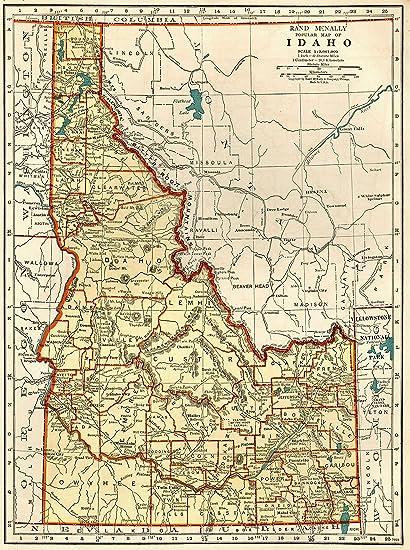 1939 Antique Idaho Map Original Vintage Map of Idaho Not a Reprint Home  Office Decor Gallery Wall Art #1156