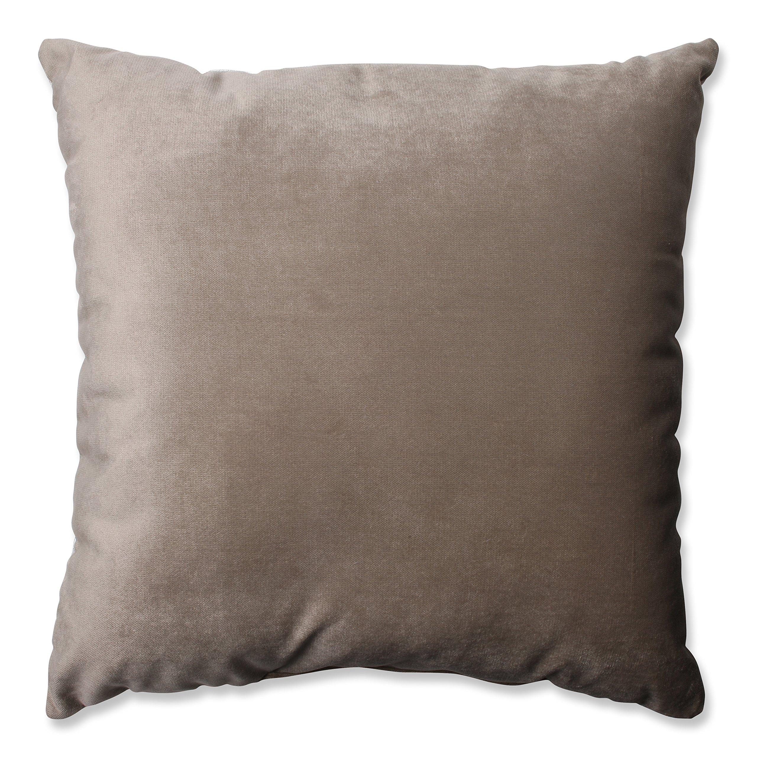 Pillow Perfect Belvedere Driftwood Knit Velvet Throw Pillow, 16.5-Inch