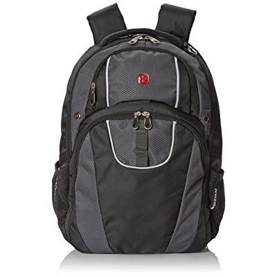 outlet Swiss Gear SA6689 Black with Gray Laptop Backpack - Fits Most 15 Inch Laptops and Tablets