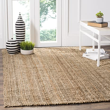 Amazon Com Safavieh Natural Fiber Collection Nf447a Handmade Chunky Textured Premium Jute 0 75 Inch Thick Area Rug 4 X 6 Natural Furniture Decor