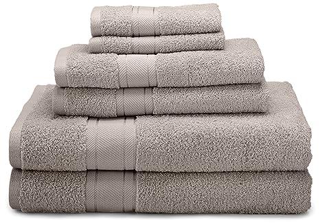 1888 Mills Naked marca 6 piezas Juego de baño con 2 toallas de baño
