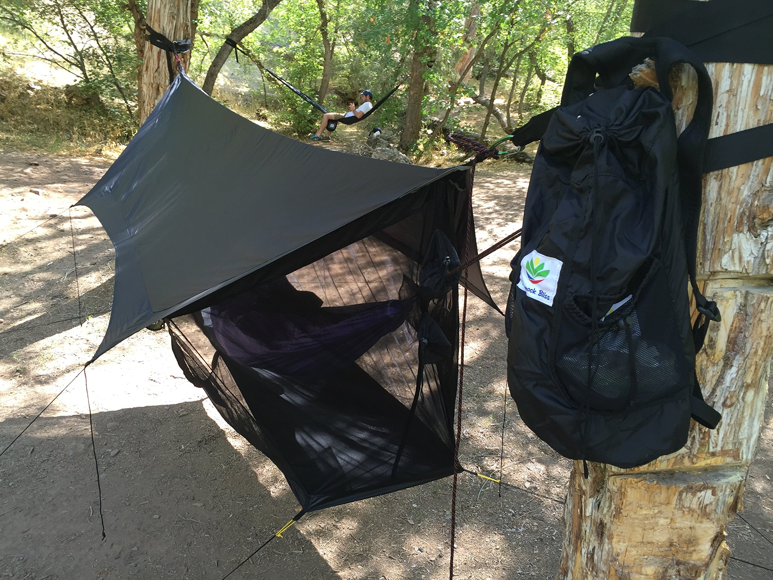 Hammock Bliss Sky Tent 2 - A Revolutionary 2 Person Hammock Tent - Waterproof and Bug Proof Hanging Tent Provides Spacious and Cozy Shelter For 2 Camping Hammocks - Embrace Hammock Camping Comfort by Hammock Bliss (Image #4)