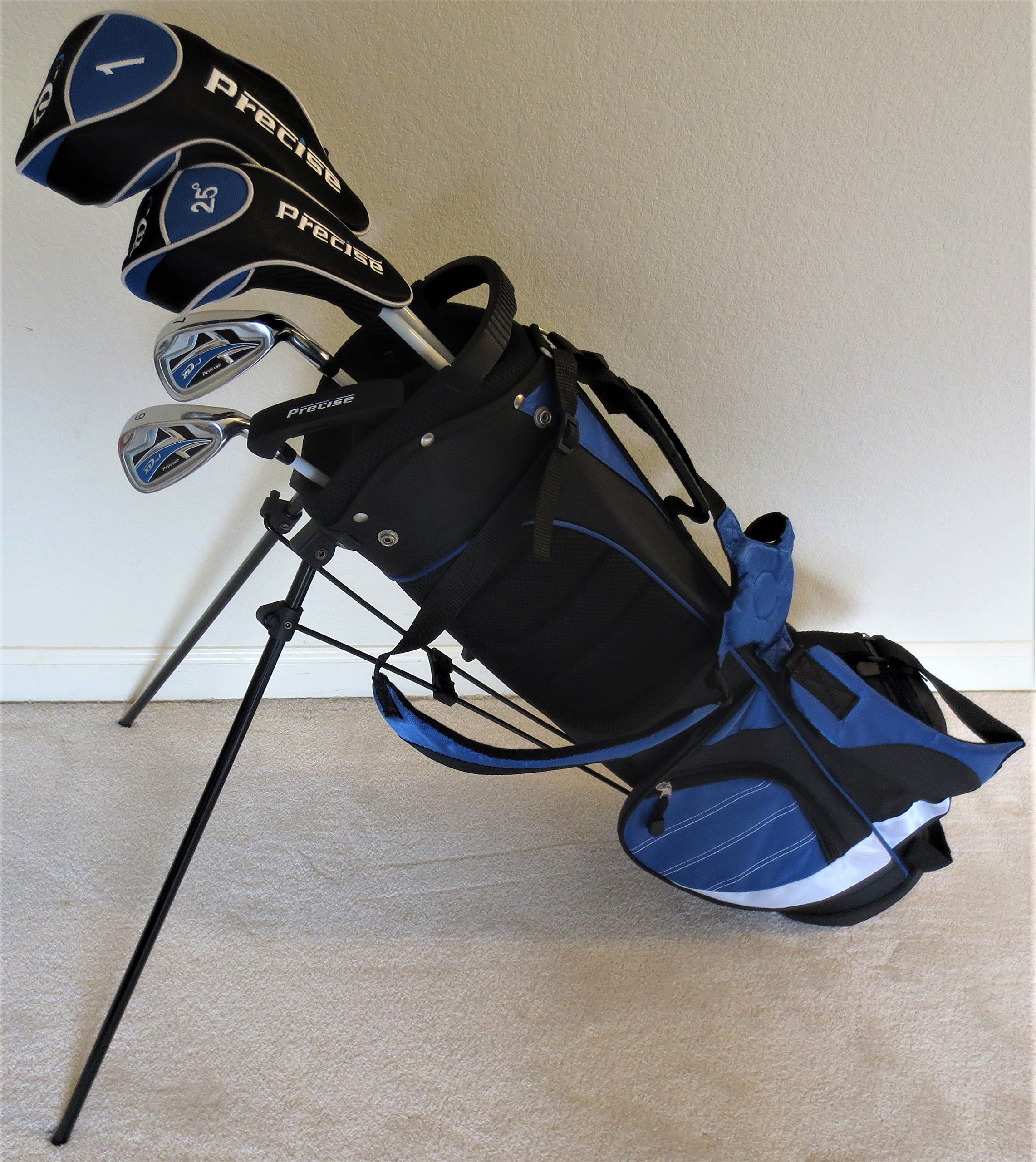 Boys Ages 8-12 Junior Golf Club Set with Stand Bag for Kids Jr. Right Handed Premium Professional Tour Quality by Junior Golf Excellence (Image #1)