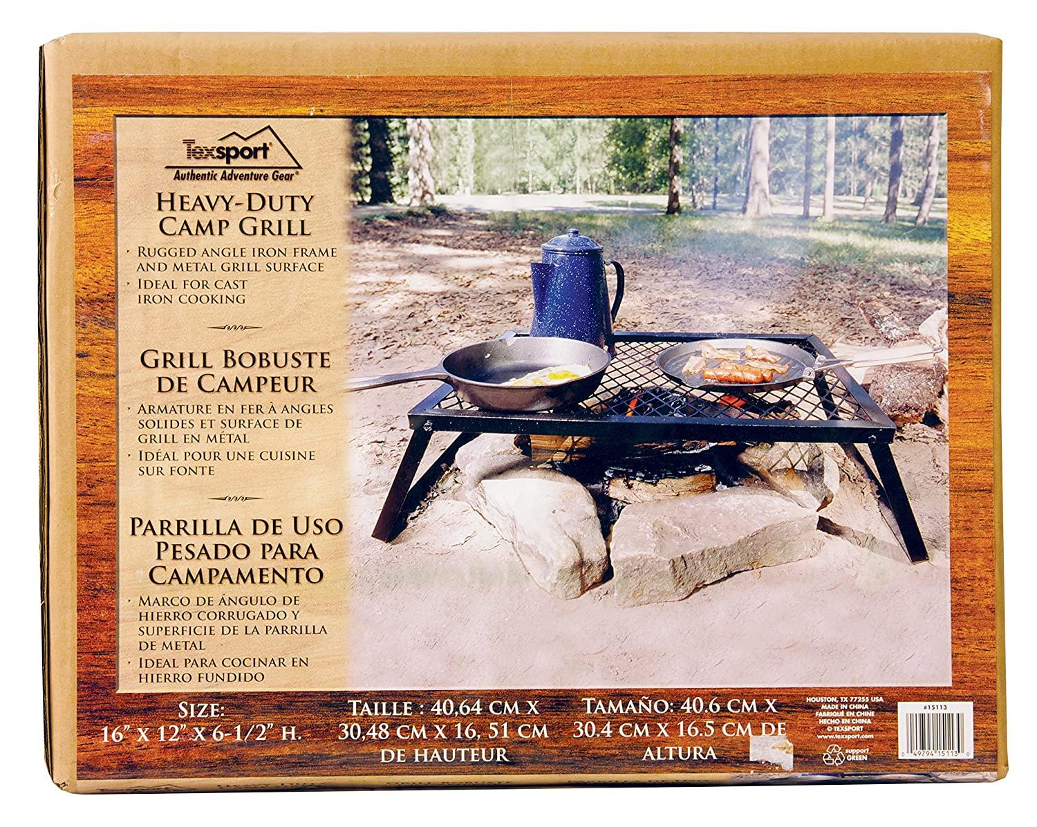 Amazon.com: Texsport Heavy Duty Over Fire Camp Grill: Sports & Outdoors