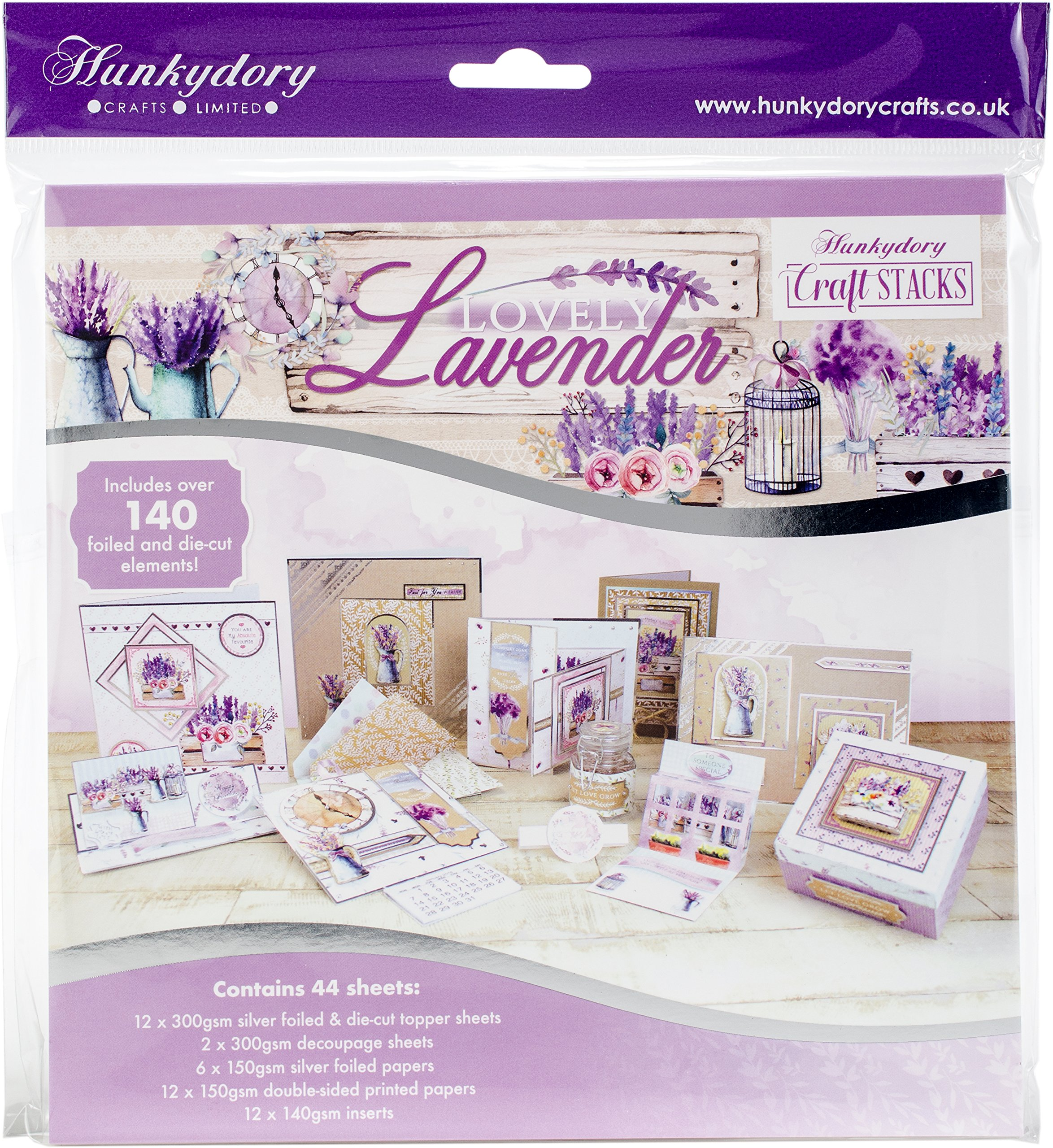 Hunkydory Crafts Craft Stack - LAVENDER- Card Kit STACK019
