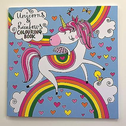 Rachel Ellen Libro Para Colorear Con Unicornio Y Arco Iris