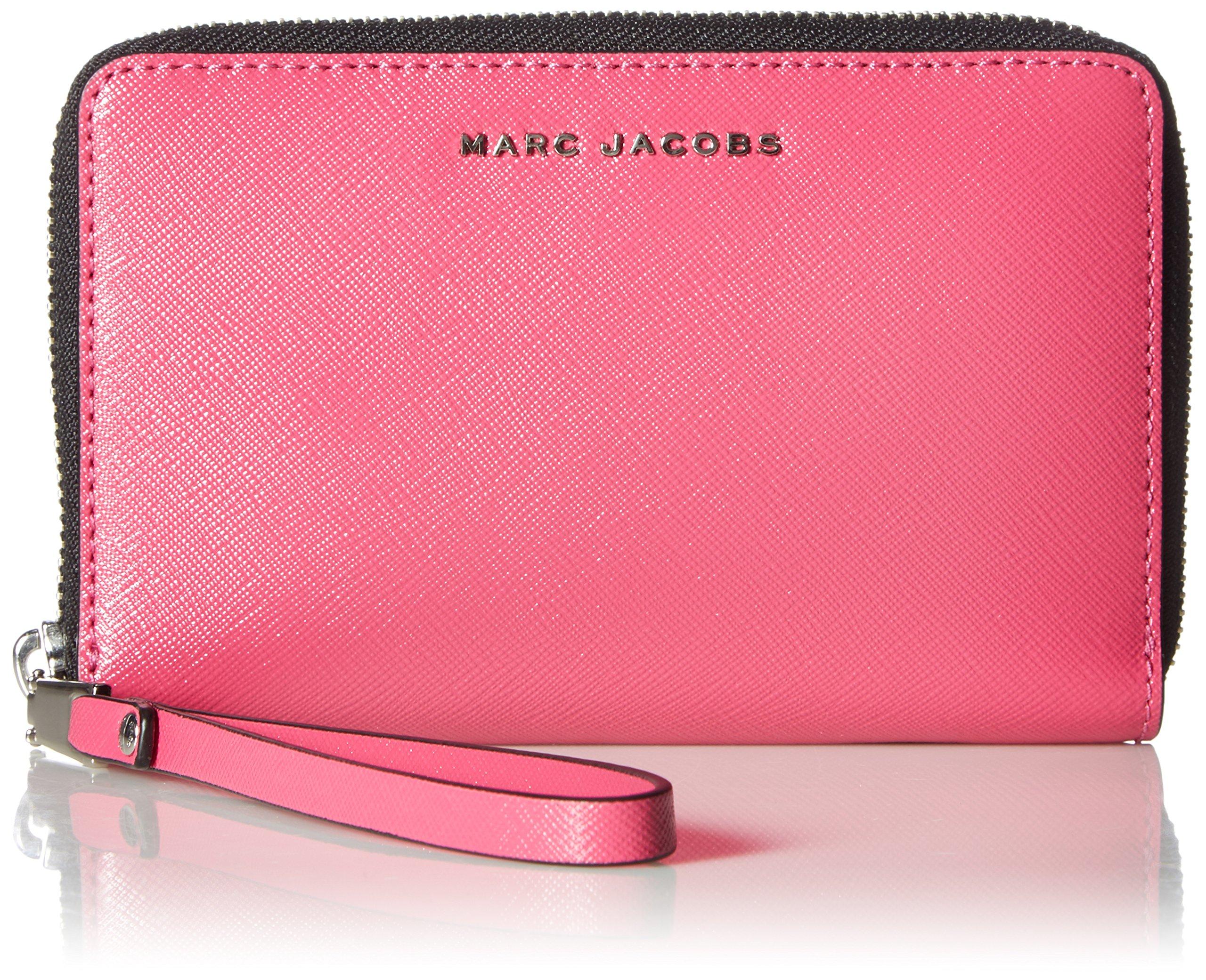 Marc Jacobs Saffiano Bicolor Zip Phone Wristlet, Magenta/Pink