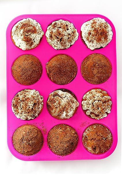 Amazoncom Silicone Cupcake Pan Muffin Tin Pink Silicon Cupcake
