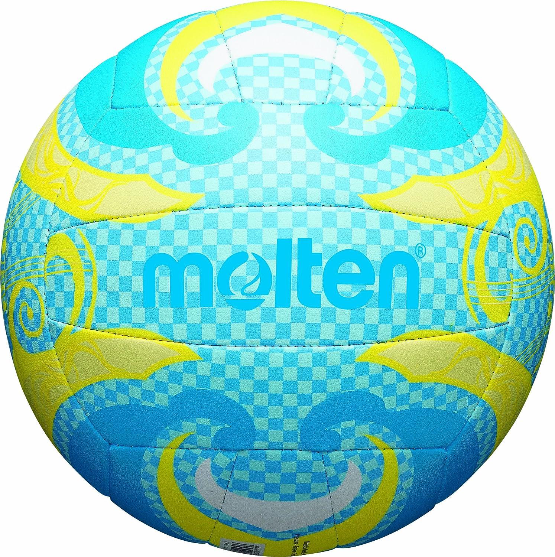 MOLTEN Volleyball - Balón de voleibol para exterior (cuero, outdoor), color azul/amarillo, talla 5 V5B1502-C