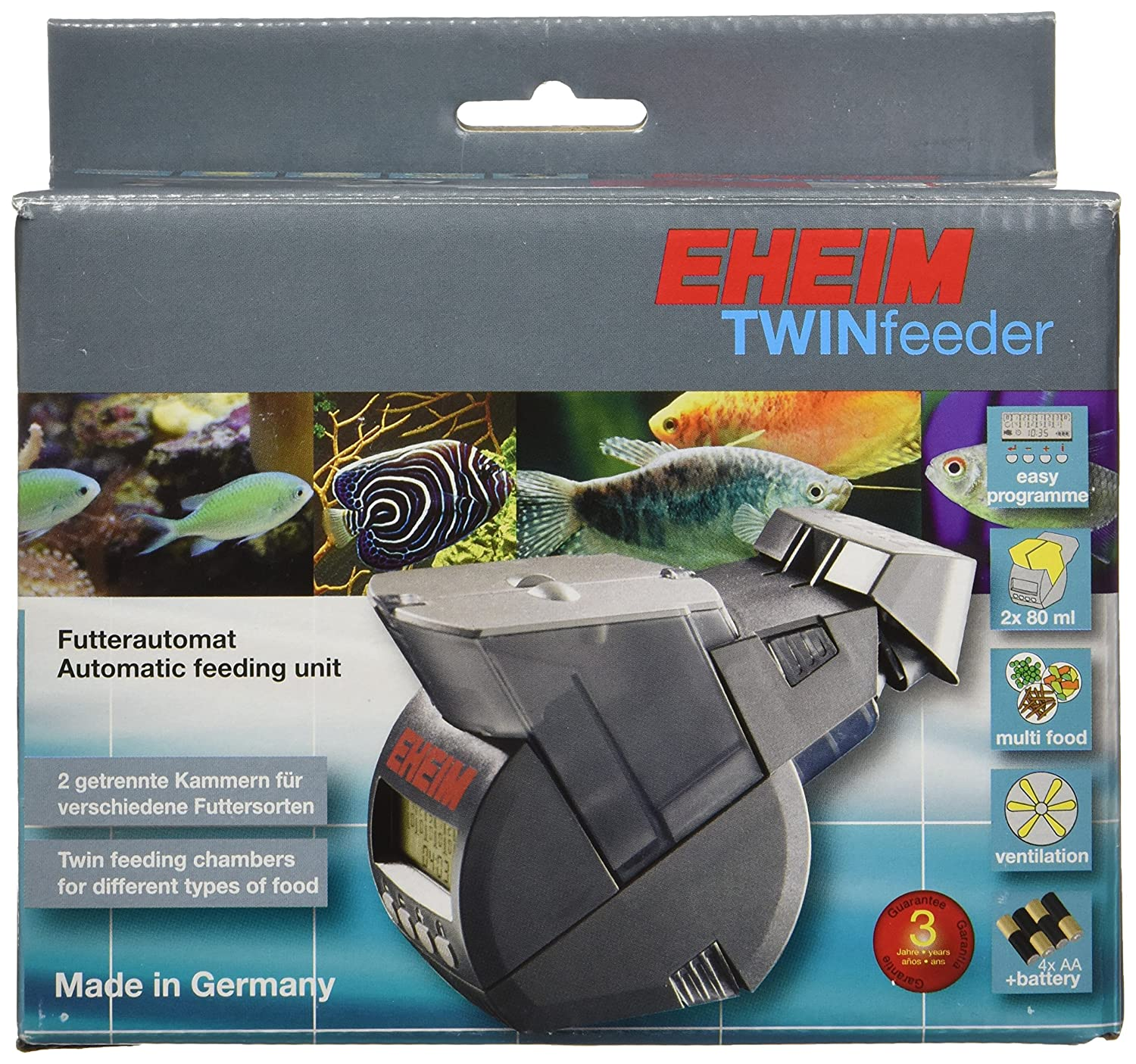 aquarium asap fish products twin eheim feeder automatic