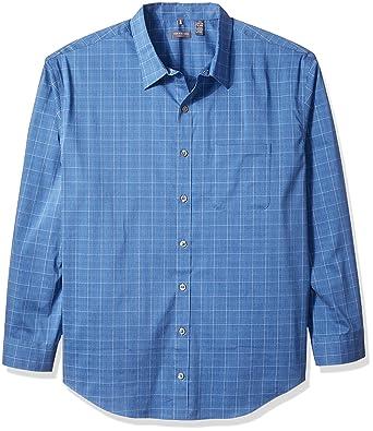 Van Heusen Camisa para Hombre de Manga Larga elástica con Botones ...