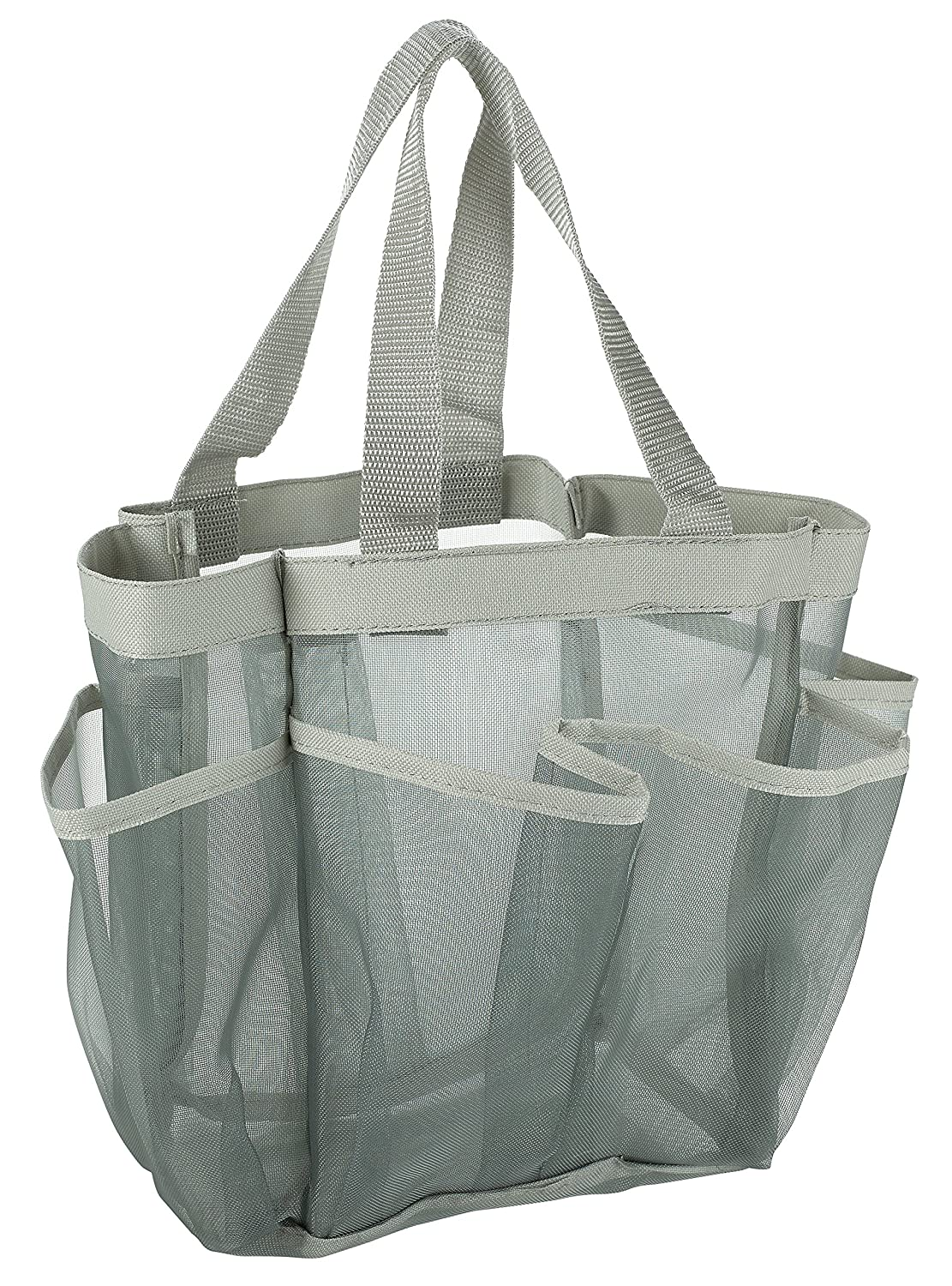 Amazon.com: 7 Pocket Shower Caddy Tote, Grey - Keep your shower ...