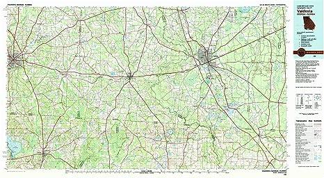 Amazon Com Valdosta Ga Topo Map 1 100000 Scale 30 X 60 Minute