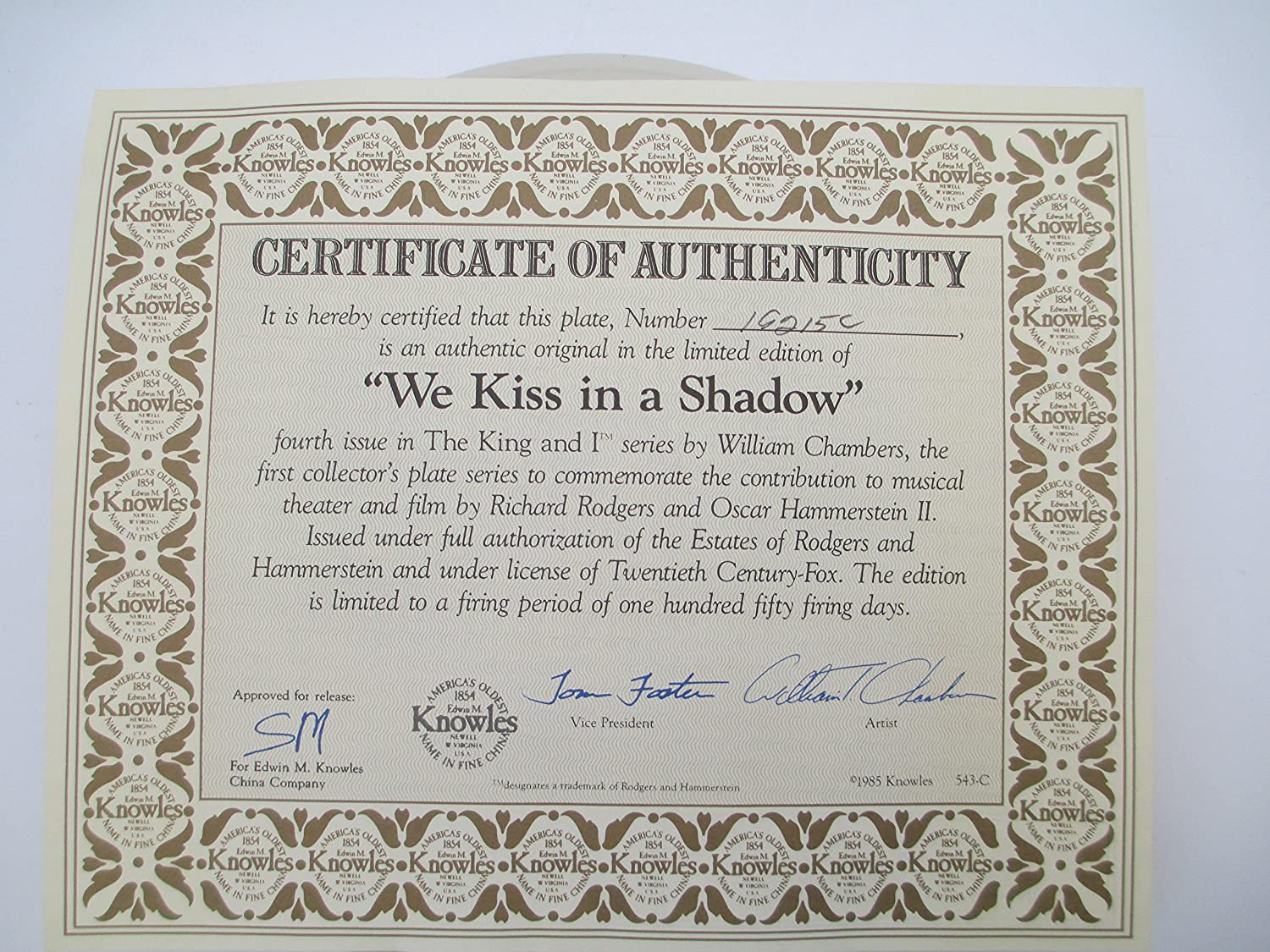 Knowles China We kiss in The Shadows 13632 D