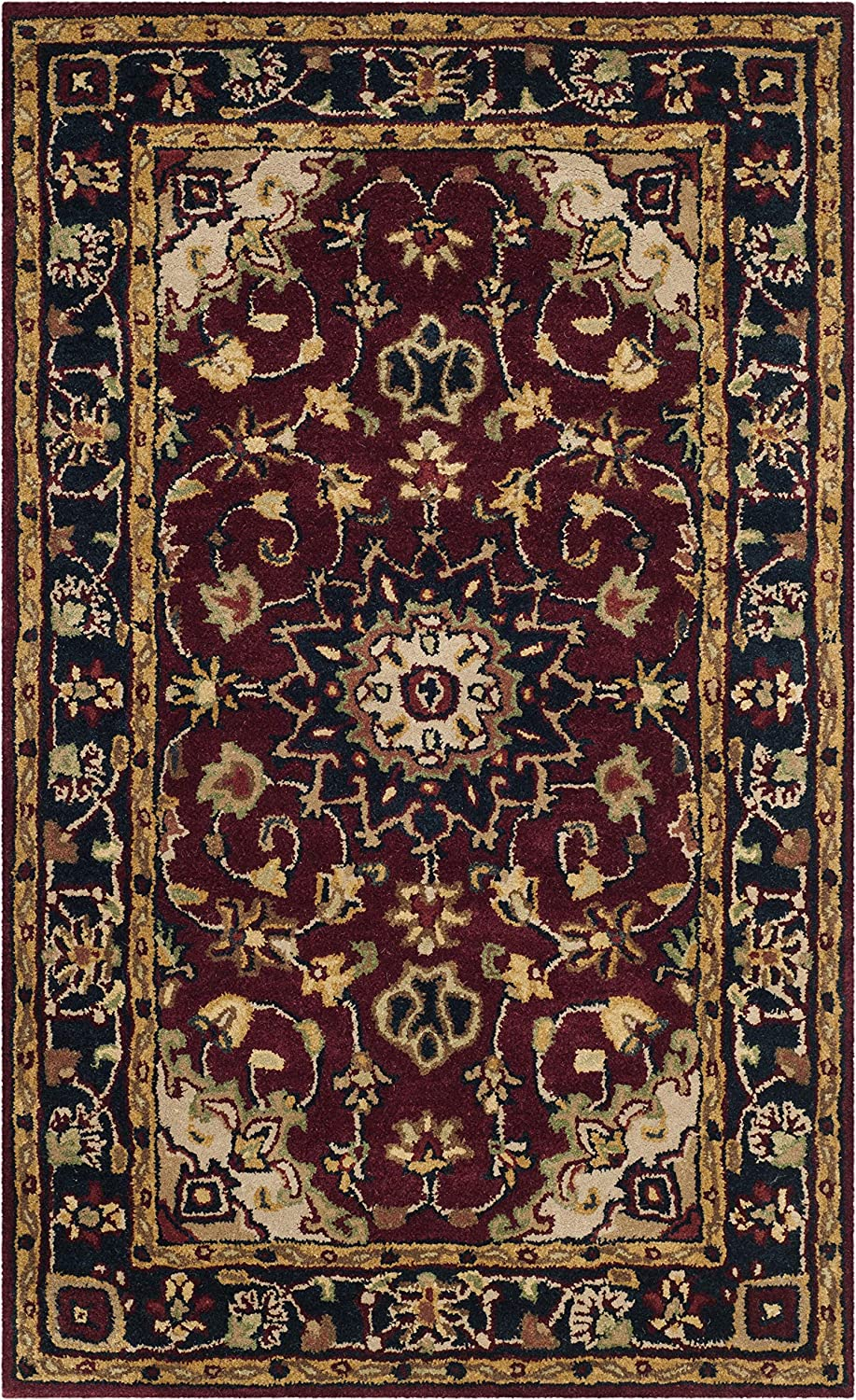 Safavieh Classic Collection Cl362a Handmade Traditional Oriental Premium Wool Accent Rug 2 X 3 Burgundy Navy Furniture Decor