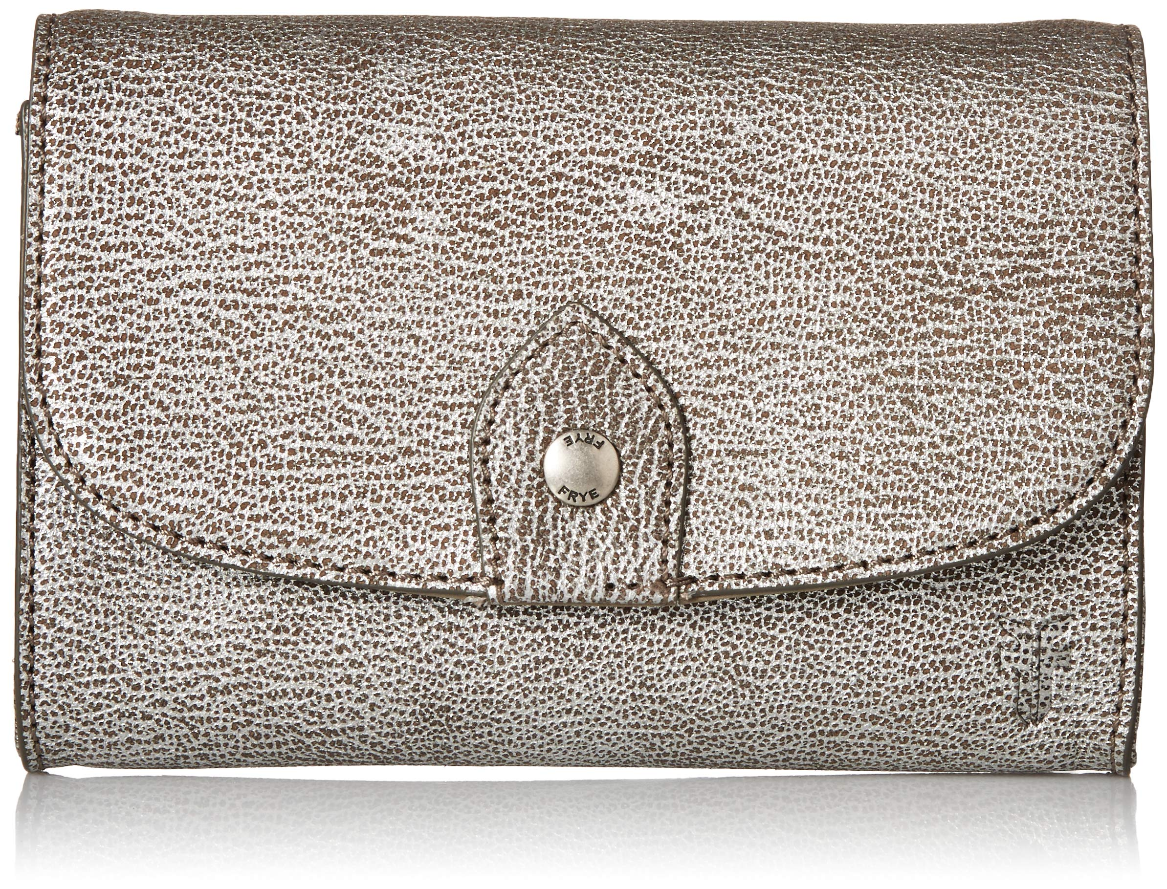 FRYE Melissa Wallet Crossbody Clutch Leather Bag, silver by FRYE (Image #1)