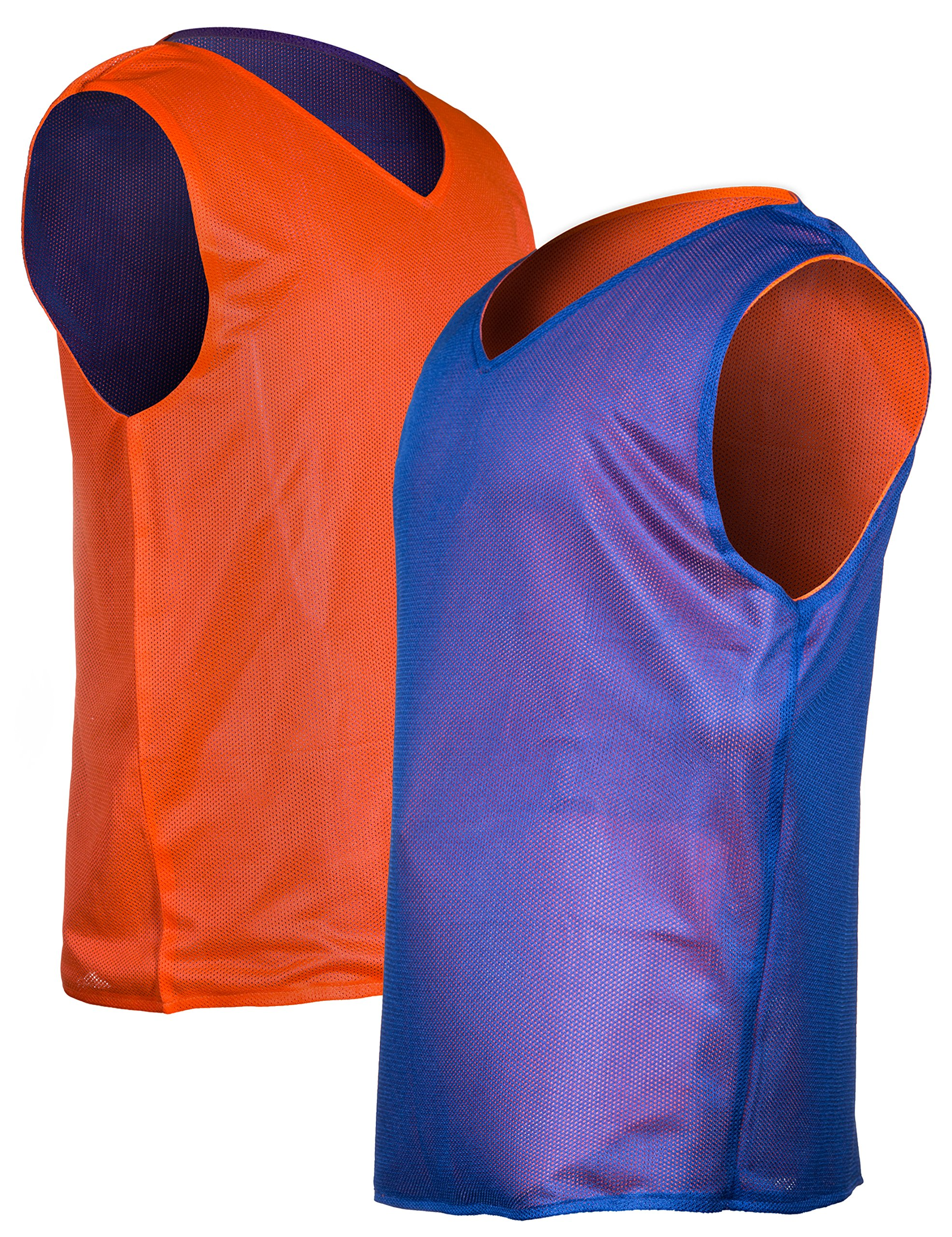 Eagle's Club 5-Count Adult/Teen Pinnies—Reversible Scrimmage Jerseys/Practice Vests for Soccer, Basketball, Lacrosse