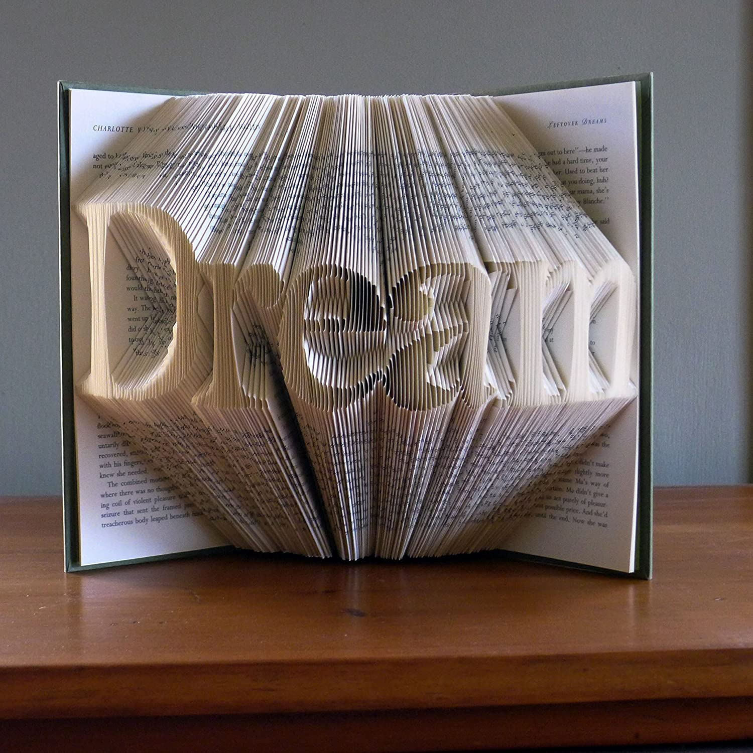 Unique Present for Book Lovers Your Name Here Best Selling Item Graduation Gift Personalized Book Art This Folded Book Can Be Personalized With Your Choice of Word