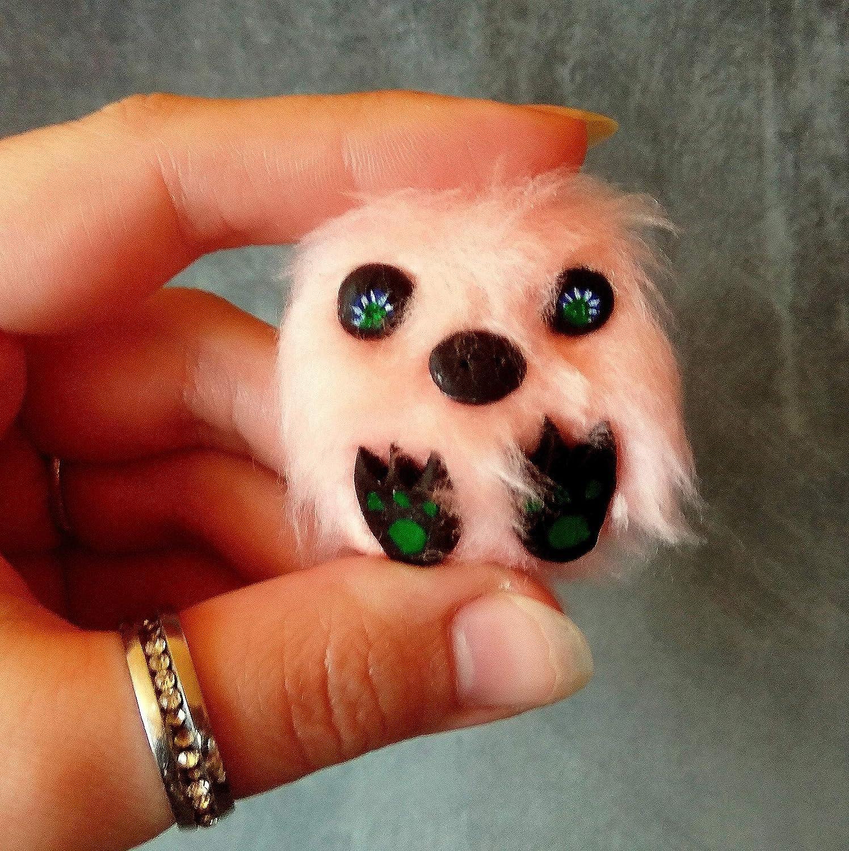 Handmade Blyt Barbo Minifee kawaii plush dollhouse polymer clay fur art toy Miniature fluffy toy
