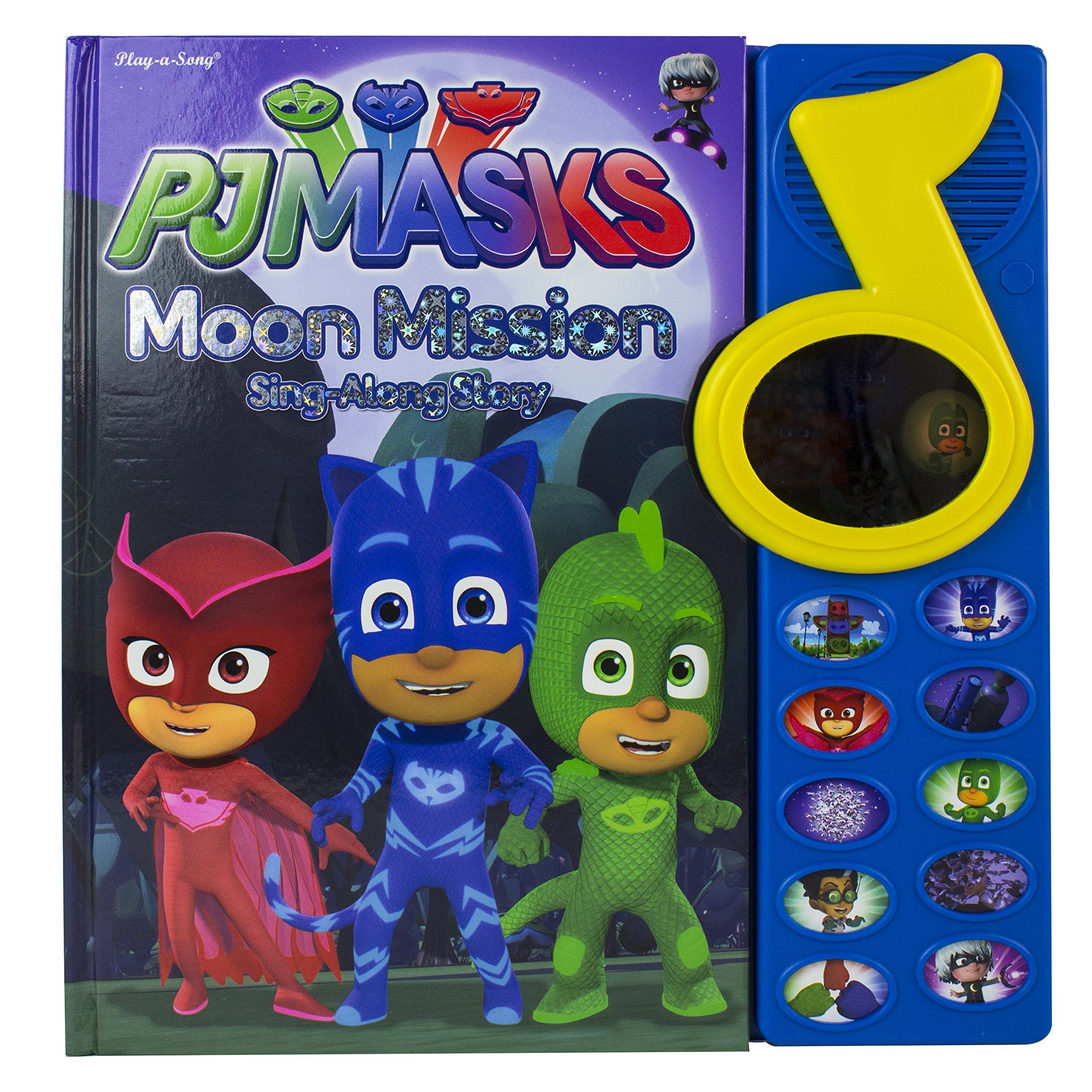 PJ Masks Moon Mission Sing-Along Story Sound Book with Mirror 9781503726987: Adapted by Erin Rose Wage: 9781503726987: Amazon.com: Books
