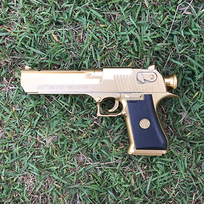 Sound /& Vibration Effects For Kids Gold-Eagle Pistol Toy Gun with Light GN E