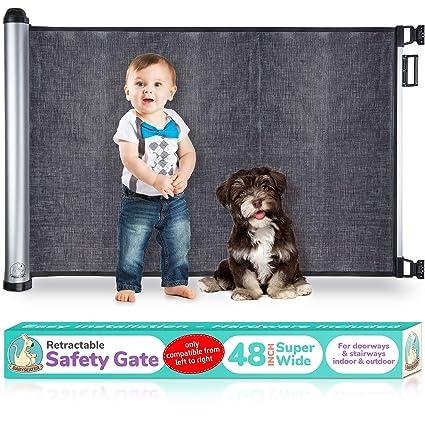 Walk thru Baby Gate Safety Door Stair Hall Stairway Child Toddler Kids Pet Dog