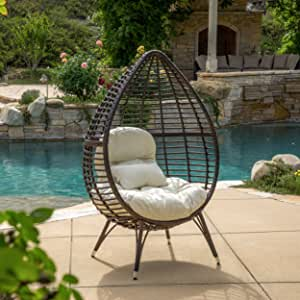 Amazon.com: Dermot multibrown Lounge de mimbre silla de ...