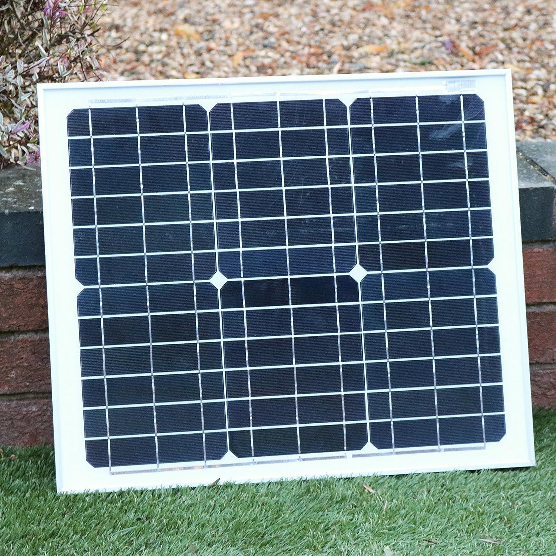 PK Green Ventilador Solar 12V con Panel Solar 30W para Caravana, Camping, Invernadero, Coche - Ventilador Solar Portátil: Amazon.es: Jardín