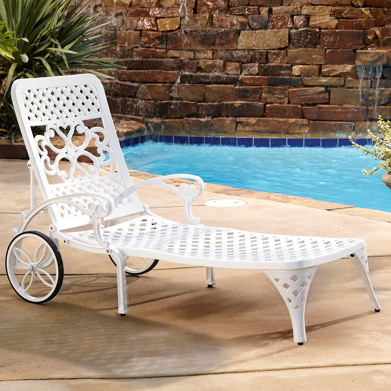 Charming Amazon.com : Home Styles Biscayne Chaise Lounge Chair, White : Patio Lounge  Chairs : Garden U0026 Outdoor