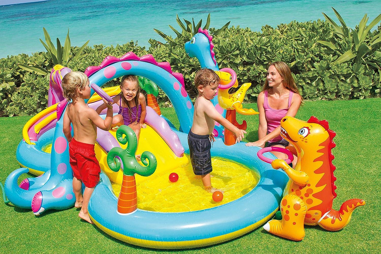 78c1cdc8ad81 Gioco gonfiabile Intex Dinoland Play Center, con piscina e scivolo art  57135np: Amazon.it: Giardino e giardinaggio