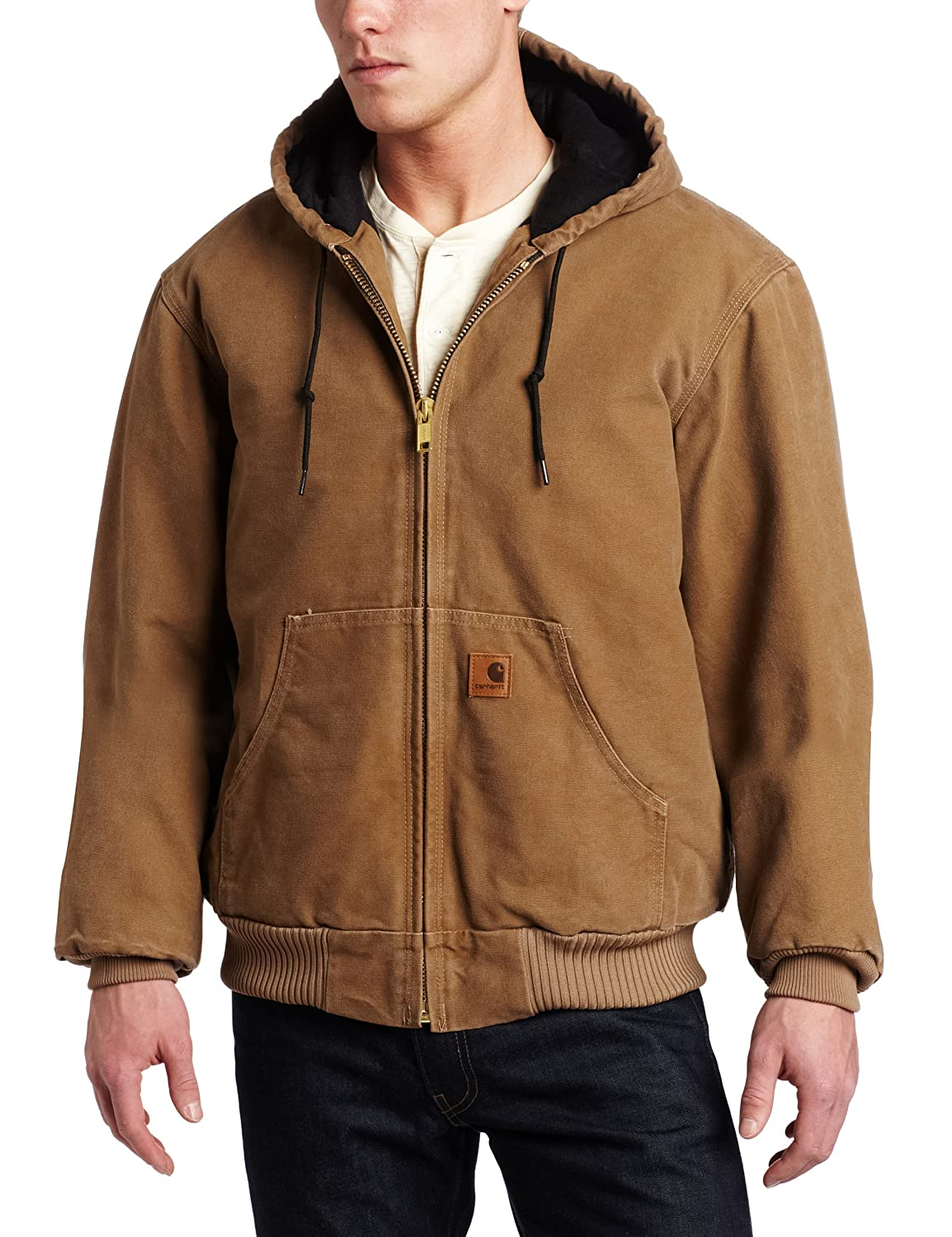 Carhartt Mens Big /& Tall Quilted Flannel-Lined Sandstone Active Jacket J130 Carhartt Sportswear Mens