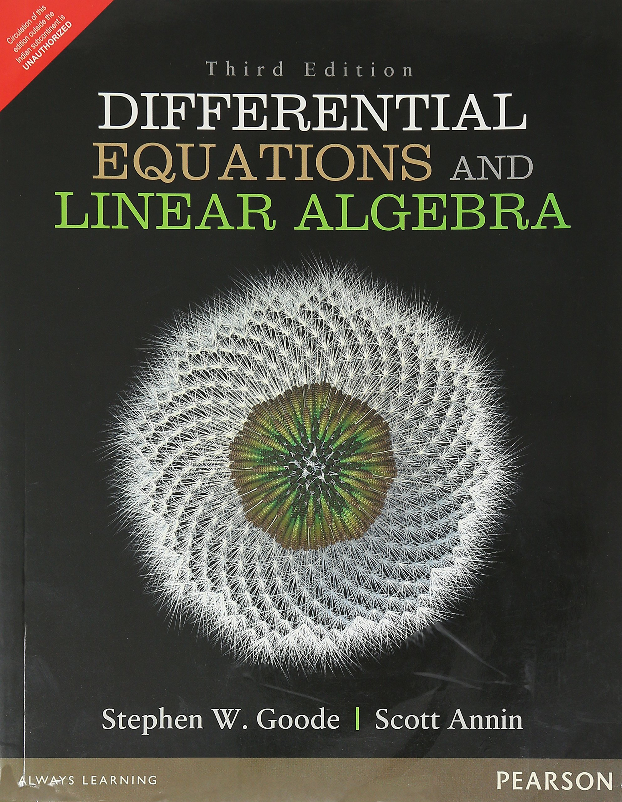 Differential Equations And Linear Algebra, 3 Ed: Stephen Walther:  9789332571631: Amazon.com: Books