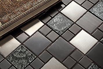 10cm X 10cm Muster Glas Und Edelstahl Mosaik Fliesen Muster In