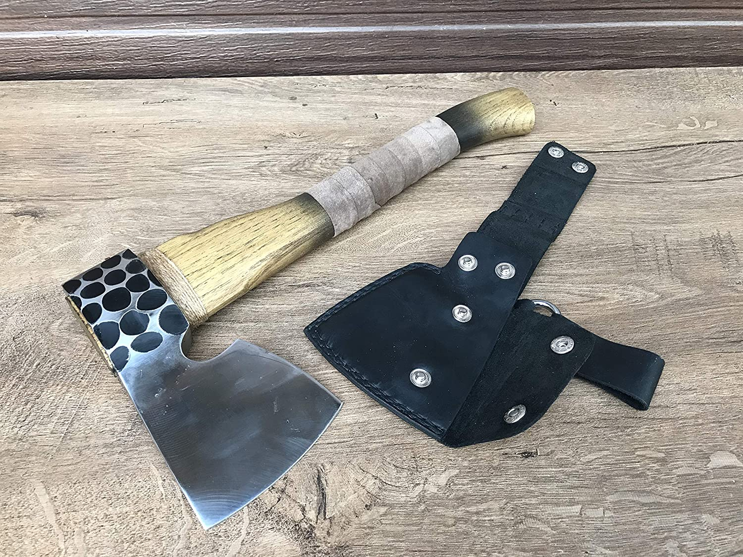 Norse axe viking camp hatchet medieval axe Viking axe 6th anniversary gift viking weapon ax gift for men leather sheath tomahawk