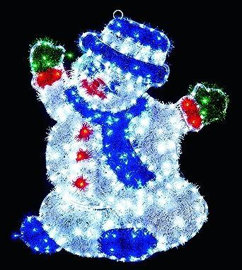 Weihnachtsbeleuchtung Schneemann Außen.Außen Innen Weihnachtsbeleuchtung Schneemann Lametta Effekt