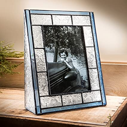 amazon com j devlin pic 159 46v blue stained glass picture frame