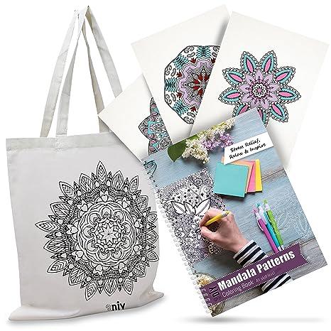 3diy Mandala para Colorear Libro Para Adultos para alivio de tensión ...
