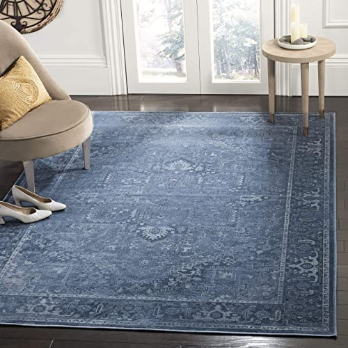 Safavieh Vintage Premium Collection VTG114-7220 Transitional Oriental Blue Distressed Silky Viscose Area Rug 8 10 x 12 2