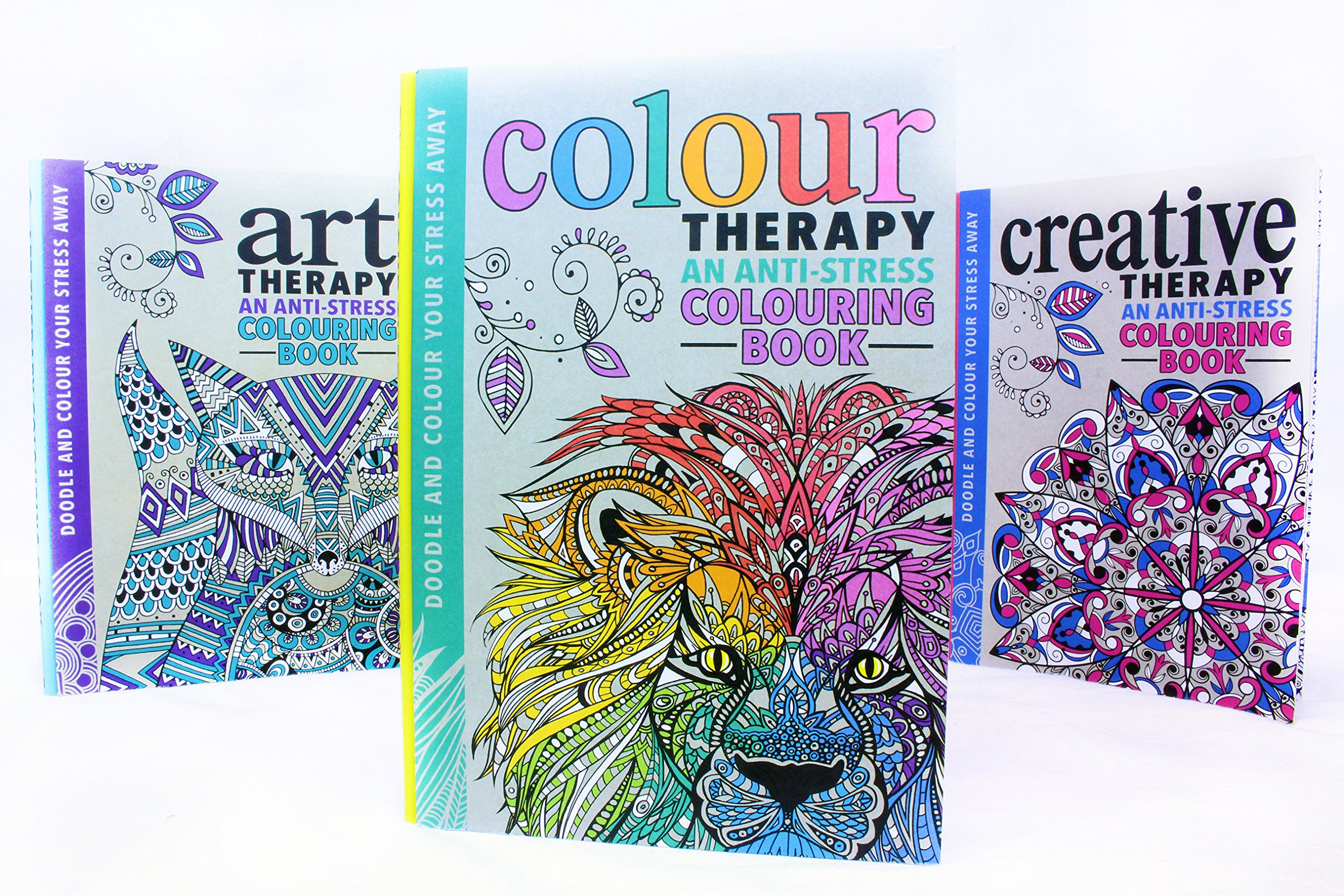 Colour therapy books for adults - Colour Therapy Books For Adults The Art Colour Creative Therapy Anti Stress Adult Colouring Books