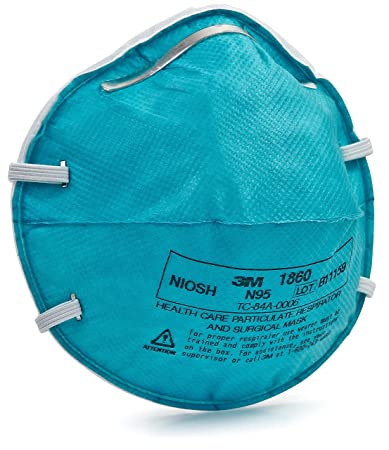 Surgical Respirator By Count N95 And 20 1860 Mask 3m Amazon 3m